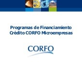 Financiamiento: micro créditos CORFO