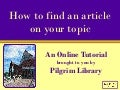 Find Articles by Topic