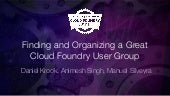 Finding and-organizing Great Cloud Foundry User Groups