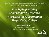 Finding Common Ground In Interdisciplinary Learning Communities