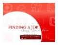 Finding a job using social media