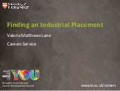Finding an industrial placement 2012