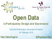 Open Data in Participatory Design &...