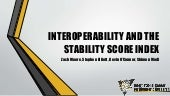 Interoperability and the Stability Score Index
