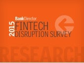2015 Fintech Distrubtion Survey