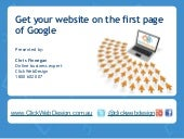 The first page of Google