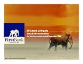 FirstBank Nigeria  2010 Result Pres...
