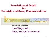 Foundations of Delphi for Foresight...