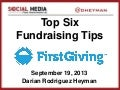 Webinar Download: Darian's Top 6 Fundraising Tips