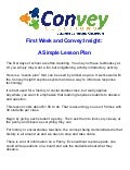 First week and convey insight 2013