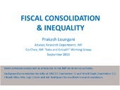 Fiscal consolidation talk at unicef