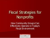 Fiscal Strategies For Nonprofits