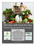 Sales Effort: $20 Visa Gift Card For You Fish Rich(R) Display Crates For Your Customer