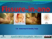 Fissure in-ano- Dr. Enja Amarnath Reddy