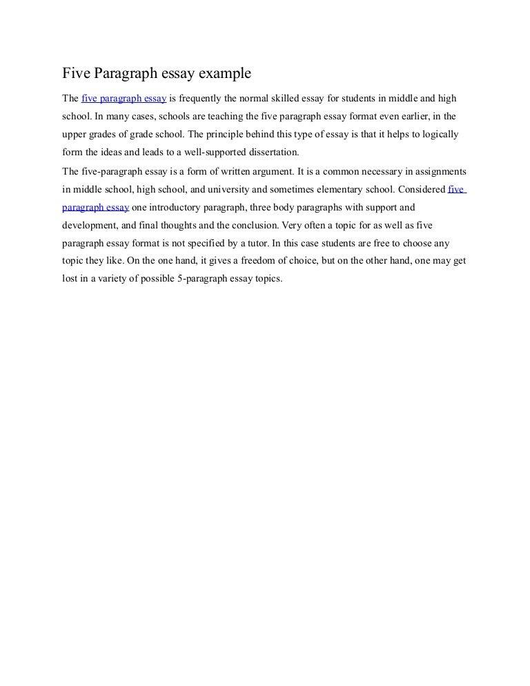 proper essay format