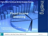 Fixed Income Investing Seminar