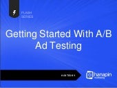 Flash Series: Getting Started with A/B Ad Testing