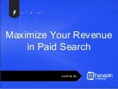 Maximize Your Revenue in Paid Search
