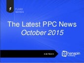 The Latest PPC News  - October 2015