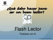 Flash Lector Palabras Con G