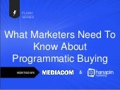 What Marketers Need To Know About Programmatic Buying