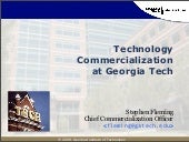 Technology Commercialization at Geo...