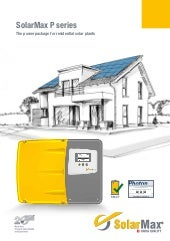 SolarMax P Series 'Battery Ready' Inverters.