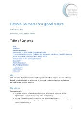 Flexible learners for a global future - Alison Le Cornu