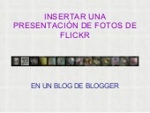 Flickr+blogger
