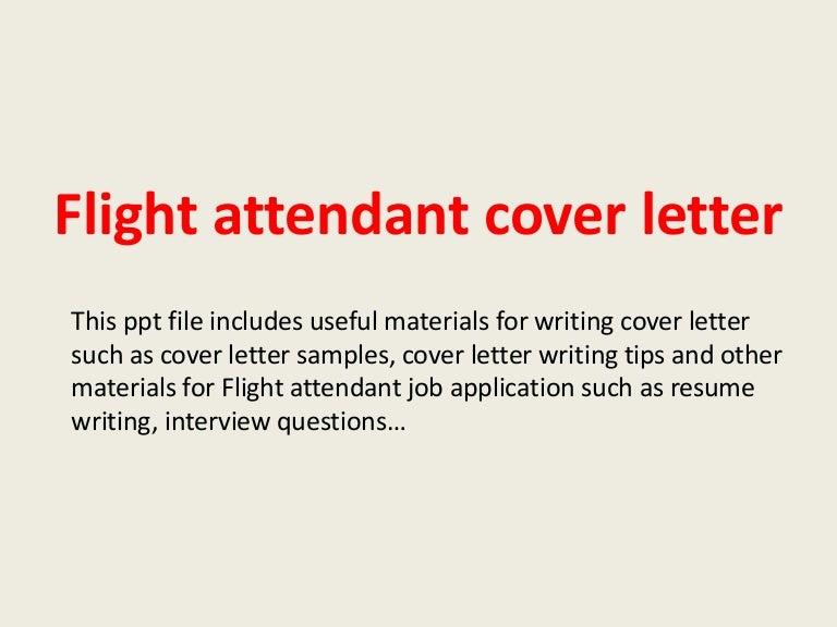 Flight Attendant Cover Letter Sample - Cover Letters And