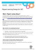 Flipped Learning Design for VET Factsheet