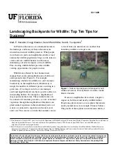 FL: Landscaping Backyards for Wildlife