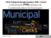 FL Municipal Clerks Web 2.0 Worksho...