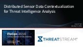 Distributed Sensor Data Contextualization for Threat Intelligence Analysis