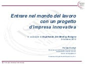Imprenditorialità innovativa, l'ABC