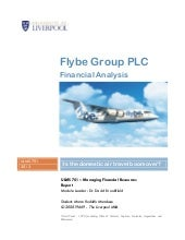 FlyBe Financial Analysis