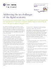 BEPS:  Action #1 - Addressing the tax challenges of the digital economy