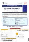 Les archives audiovisuelles : Description, indexation et publication