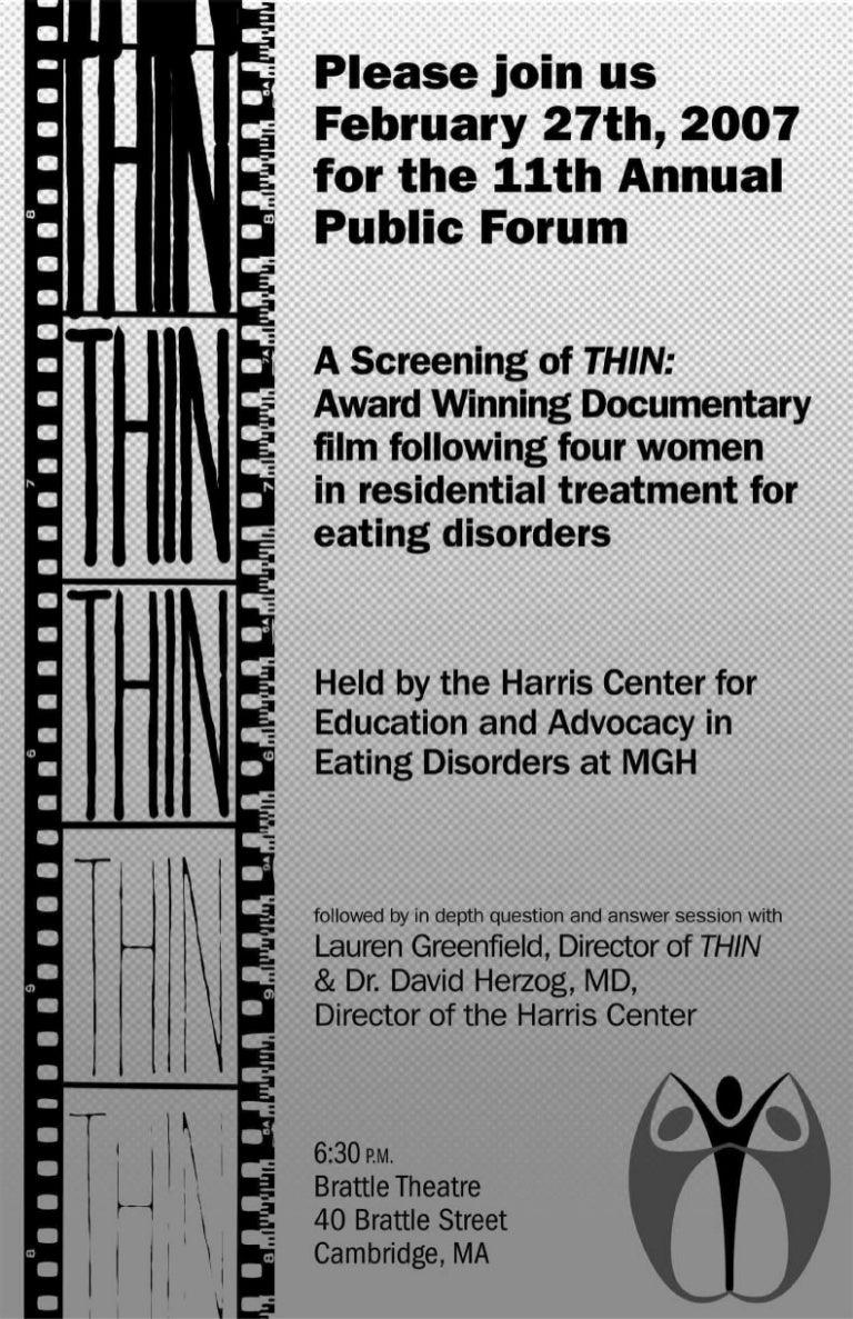 flyer for harris center public forum