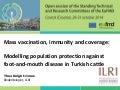 Mass vaccination, immunity and coverage: Modelling population protection against foot-and-mouth disease in Turkish cattle
