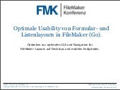 FMK2012: Optimale Usability von For...