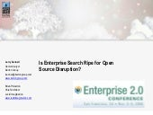 Is Enterprise Search Ripe for Open ...