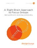 Right Brain Approach To Focus Groups