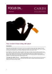 Alcohol misuse and older people- Co...