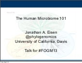 The Human Microbiome 101: talk Jona...