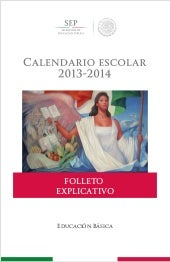 Folleto explicativo calendario escolar