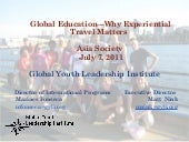Global Education - Why Experiential...
