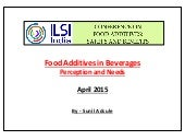 Food Additives in Beverages - Needs & Perception