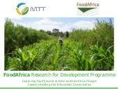 FoodAfrica Research for Development...