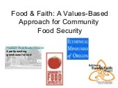 Food & Faith: A Values-Based Approa...